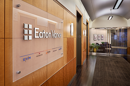 picture of Eaton Vance headquarters lobby